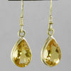 Citrine 7 ctw Faceted Pear Shape Bezel Set Earrings