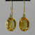 Citrine 12 ctw Faceted Oval Bezel Set Earrings