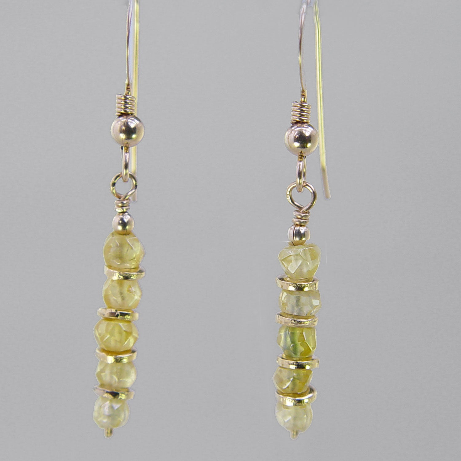 Yellow Sapphire Faceted Rondelle Earrings