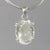 Crystal Quartz 13 ct Oval Prong Set Sterling Silver Pendant