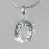 Crystal Quartz  15.9 ct Faceted Oval Sterling Silver Pendant