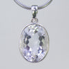 Crystal Quartz  17 ct Faceted Oval Sterling Silver Bezel Pendant