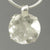 Crystal Quartz 21.5 ct Round Prong Set Sterling Silver Pendant