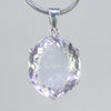 Crystal Quartz  33.5 ct Faceted Oval Sterling Silver Pendant