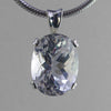 White Topaz 12.9 ct Faceted Oval Sterling Silver Pendant