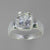 Quartz Crystal 2.3 ct Antique Emerald Bezel Set Sterling Silver Ring, Size 7.5