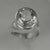 Quartz Crystal 8.25 ct Oval Bezel Set Sterling Silver Ring, Size 9