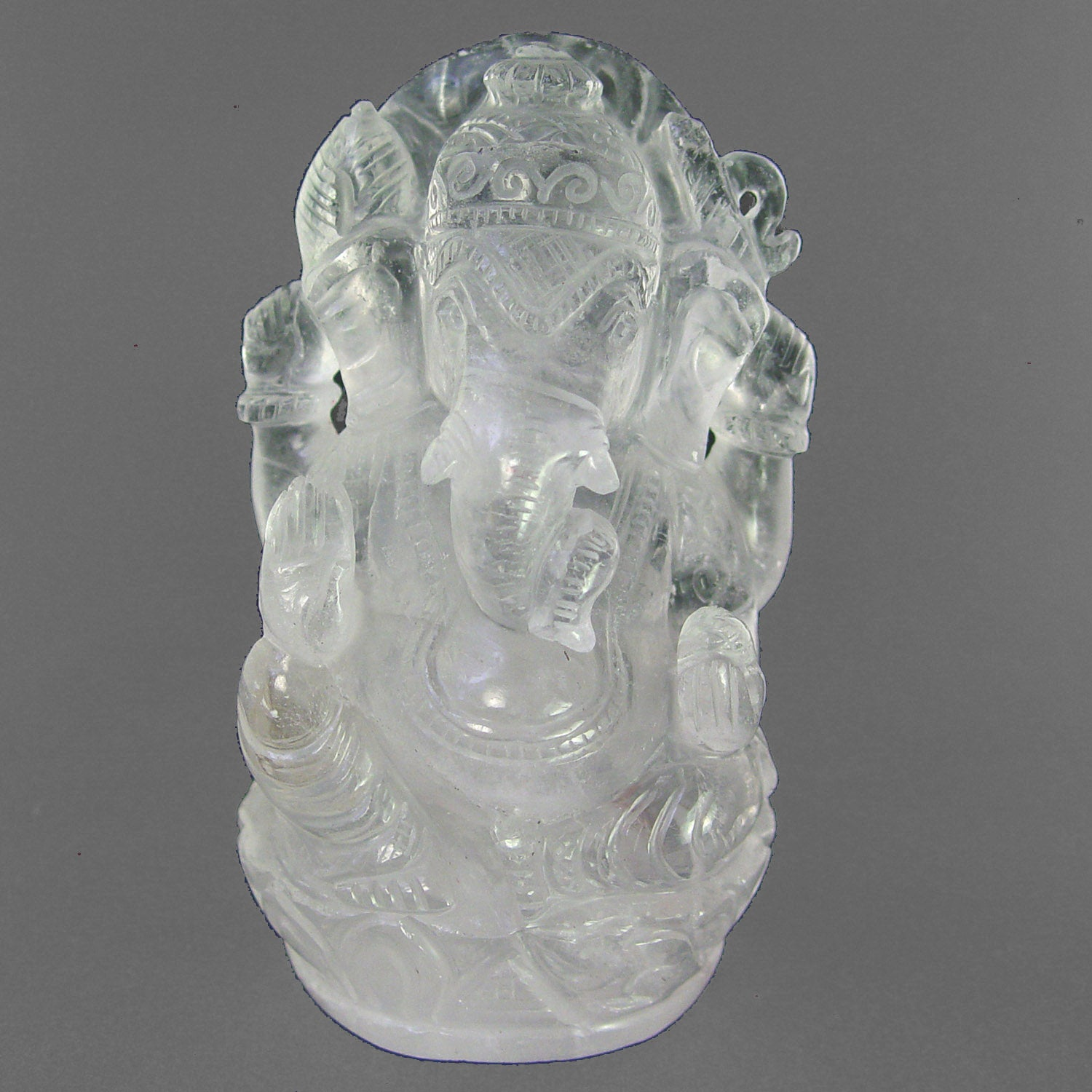 Crystal Ganesha Carving 5 1/4""