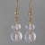 Quartz Crystal Faceted Rondelle Drop Earrings