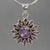 Amethyst 4 ct Round Bezel Set Sterling Silver Pendant