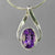 Amethyst 5.7 ct Oval Bezel Fancy Bail Sterling Silver Pendant