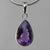 Amethyst 8 ct Faceted Pear Bezel Set Sterling Silver Pendant