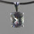 Aquamarine 3.45 ct Antique Emerald Cut Sterling Silver Pendant