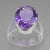 Amethyst 7 ct Faceted Oval Sterling Silver Ring, Size 7