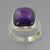 Amethyst 11.45 ct Antique Emerald Cab Bezel Set Sterling Silver Ring, Size 7.5
