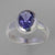 Iolite 2.2 ct Faceted Oval Sterling Silver Ring, Size 8
