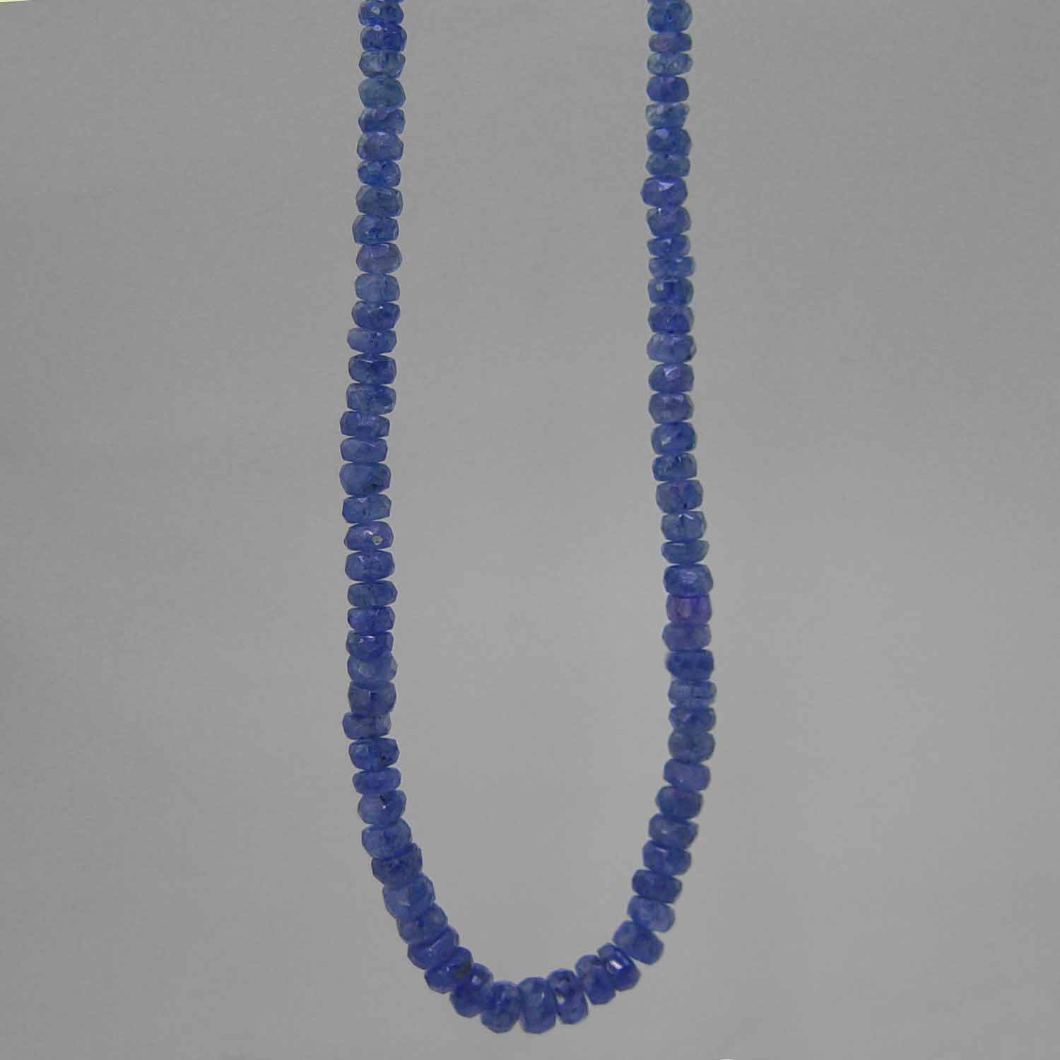 "Blue Sapphire Faceted Rondelle Graduated 17"" Necklace - 80 ct"