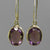 Amethyst Faceted Oval Bezel Set Sterling Silver Earrings - 9 CTW