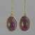Amethyst Oval Cab Sterling Silver Earrings - 10 CTW
