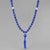 Saturn Mala - Lapis With Crystal Counter Beads