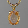 Golden Hessonite Garnet 2.7 ct Faceted Oval 14KY Gold Pendant