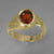 Red Hessonite Garnet 2.25 ct Faceted Oval 14KY Gold Ring, Size 8