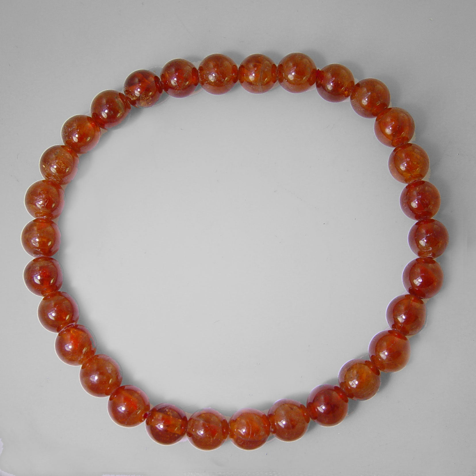 Hessonite Garnet Stretch Bracelet - 75 ct