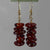 Cinnamon Hessonite Garnet Nugget Drop Gold Filled Earrings