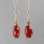 Cinnamon Hessonite Garnet Oval Drop Gold Filled Earrings