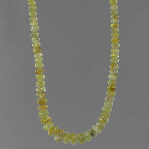 "Chrysoberyl Cat's Eye AA Rondelle 18"" Necklace - 70 ct"