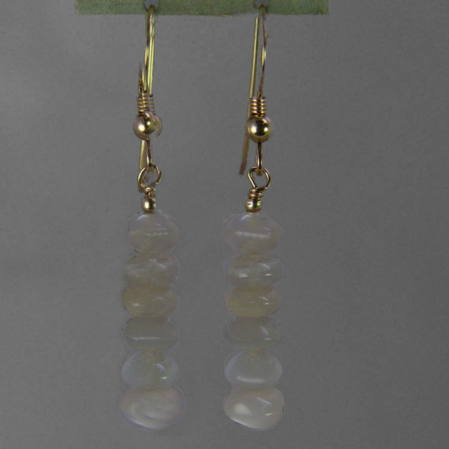 Chrysoberyl Cat's Eye Rondelle Earrings