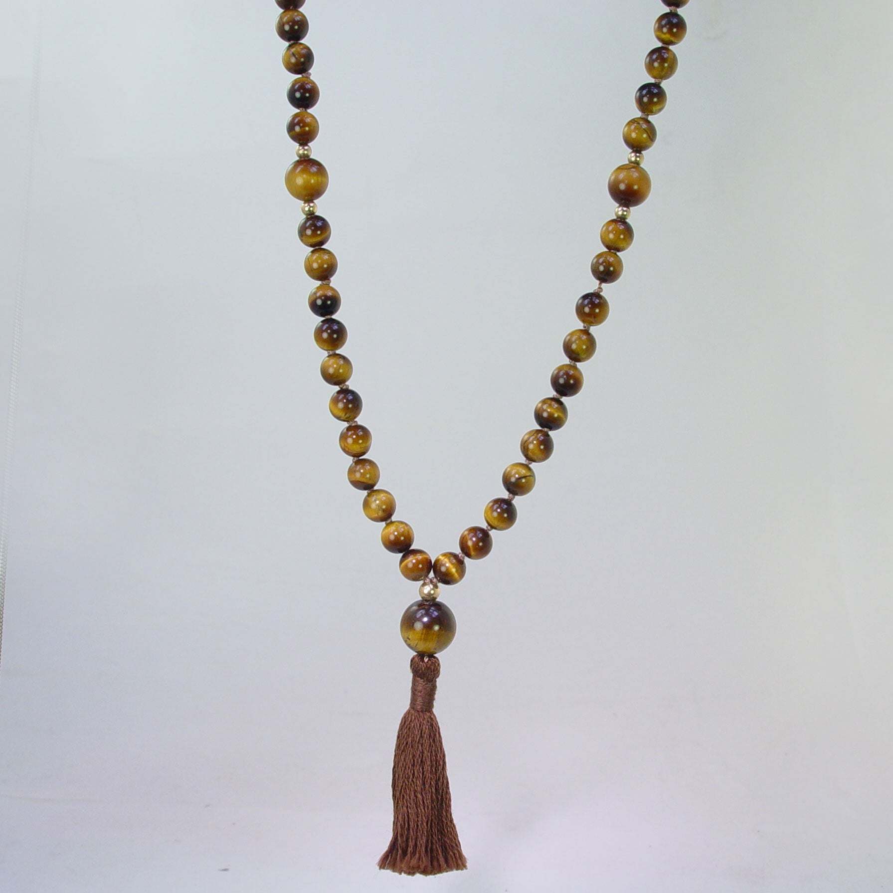Ketu Mala - Tigereye with Tigereye Counter Beads, 30""