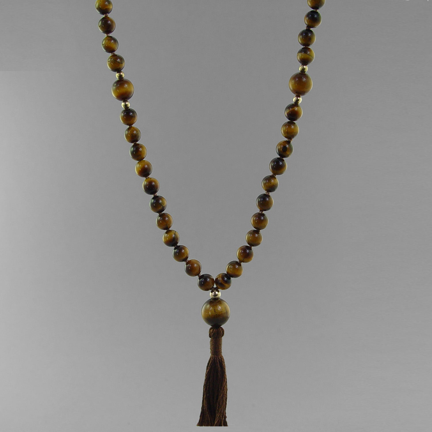 Ketu Mala - Tigereye with Tigereye Faceted Counter Beads, 36""