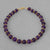 Amethyst Round Bead and Accent Bracelet