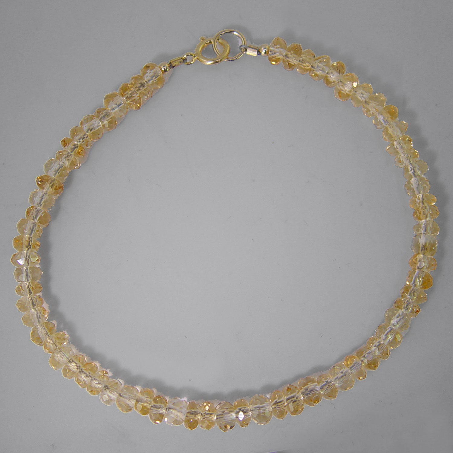 Citrine AA Small Faceted Bead Bracelet