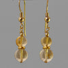 Citrine Ball Drop Earrings