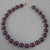 Garnet Round Bead with Accents Bracelet, 7.25 or 8""