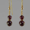 Garnet Round Ball Drop Earrings
