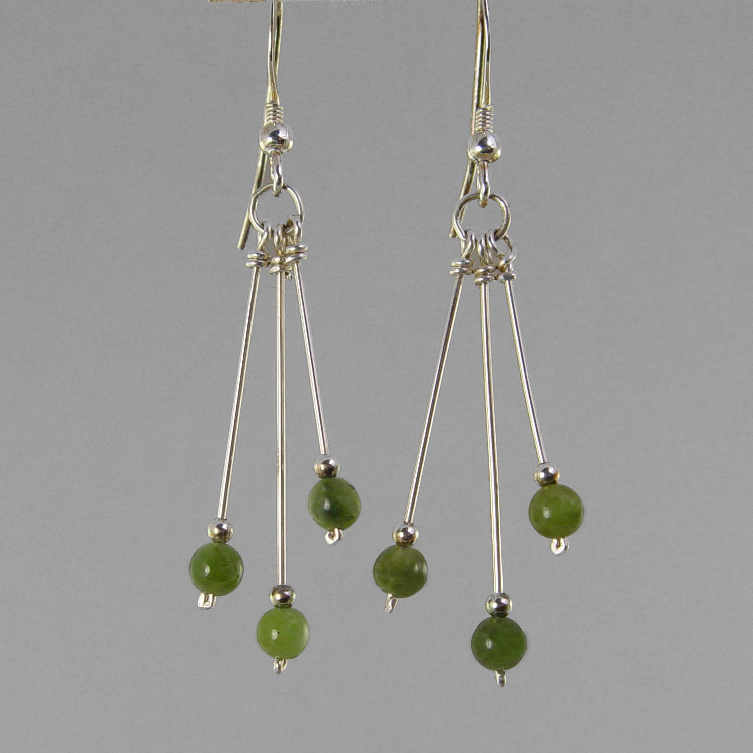 Jade Earrings - Long Triple Dangle