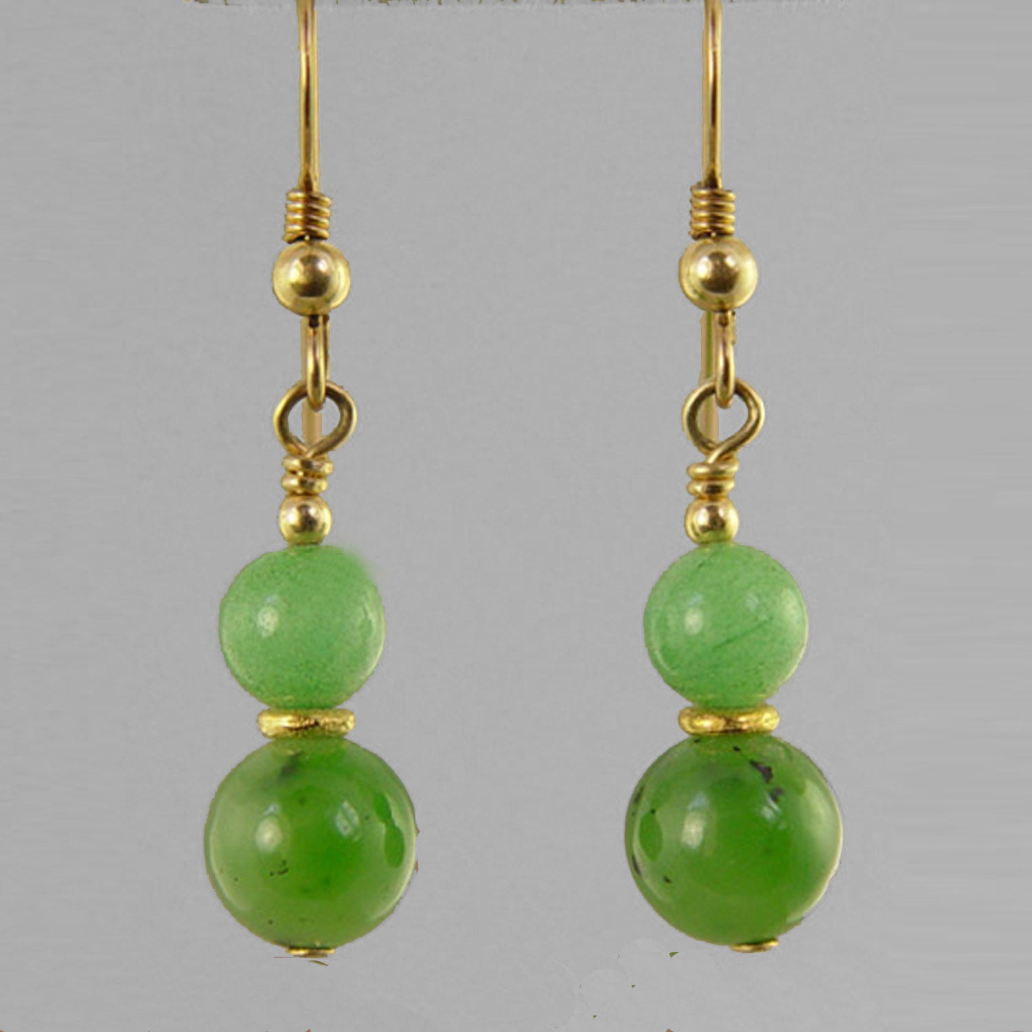 Jade Earrings - Round Ball Drop