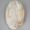 Mother of Pearl Bodhisattva Carved on Pink Mollusk Shell