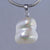 Pearl 10 ct Double Baroque Pearl With Silver Plated Bail Pendant