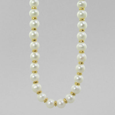 "Pearl Semi Round Pearls With Accents 16"",18"", 20"" or 24"" Necklace"