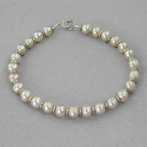 "Pearl and Rondelle Accents 7.25"" or 8"" Bracelet"