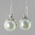 Pearl Bezel Set Sterling Silver Earrings