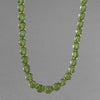 "Peridot Round Bead with Gold Accents 18"" Necklace"