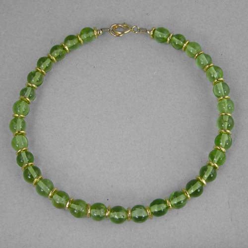 Peridot with Rondelle Accents Bracelet