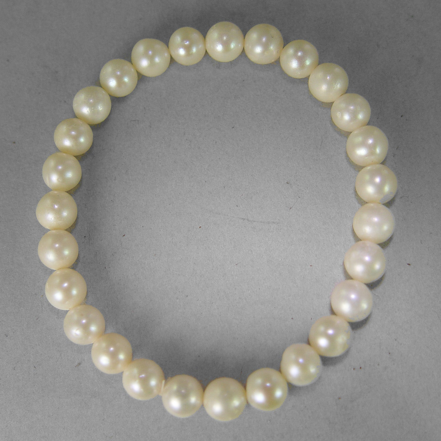 Pearl 7-7.5 mm Semi Round Stretch Bracelet