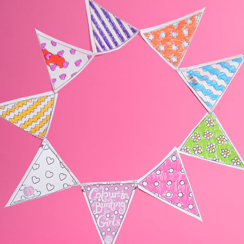 Colour-in Bunting