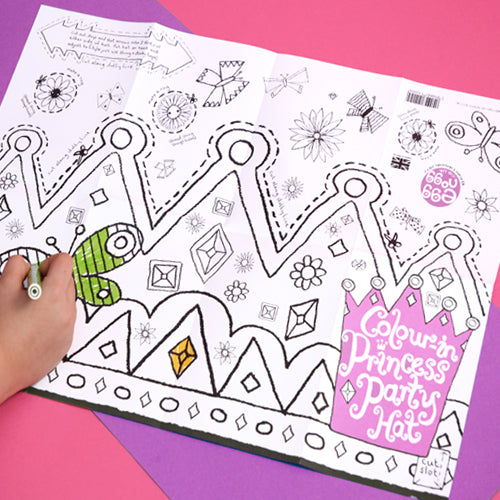 Colour-in Party Hats and Masks - Mums Toolbox